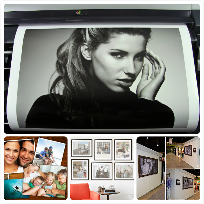 Water Based RC Photo Paper Indoor Poster Blank White Satin Printing Paper 190gsm
