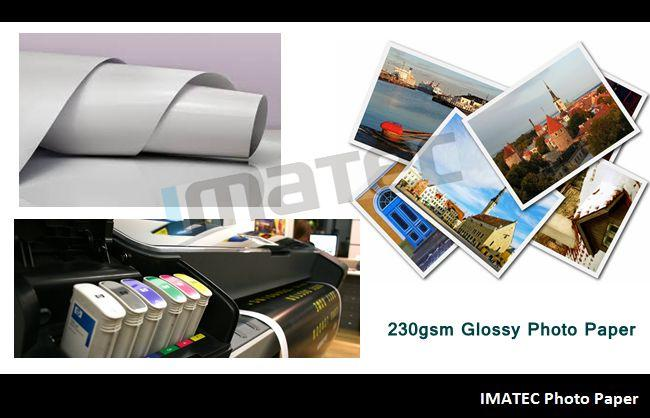 Digital Printing Glossy Cast Coated Photo Paper Roll For Dye Ink