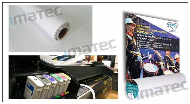 128G Large Format  Matte Coated Paper Inkjet Printing 30M For Water Based Printer