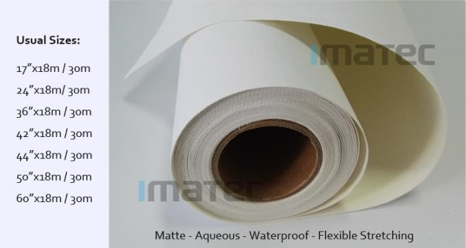 360gsm Matte Inkjet Cotton Canvas Roll for Epson / Canon / HP Wide Format Printers