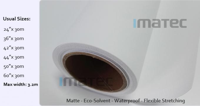 Waterproof Matte Polyester Solvent Canvas Rolls For Roland / Mimaki / Mutoh Printers