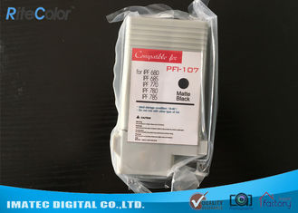 চীন Compatible PFI - 107 Ink Cartridges Wide Format Inks For Canon IPF780 IPF685 Printers কারখানা