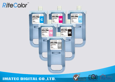 চীন Pigment Compatible 700 ML Ink Cartridge For Canon PFI - 706 , iPF8400 / 9400 Ink কারখানা