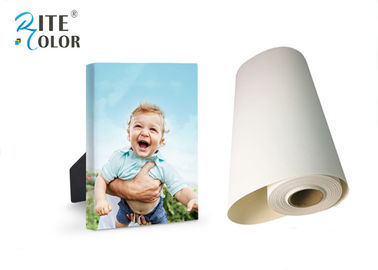 Waterproof Coating Giclee Eco Solvent Media , 260gsm Silky Polyester Glossy Inkjet Canvas Rolls