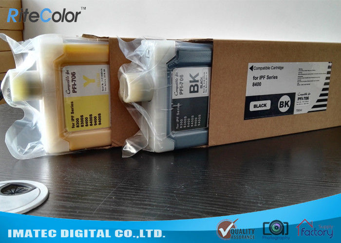 Replacement Wide Format Inks PFI-706 Refillable Ink Tank Cartridges 700Ml সরবরাহকারী