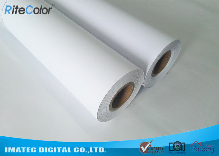 Inkjet Matte Finish Paper 180 Gram , Waterproof Coated Paper Roll Dye Ink Support