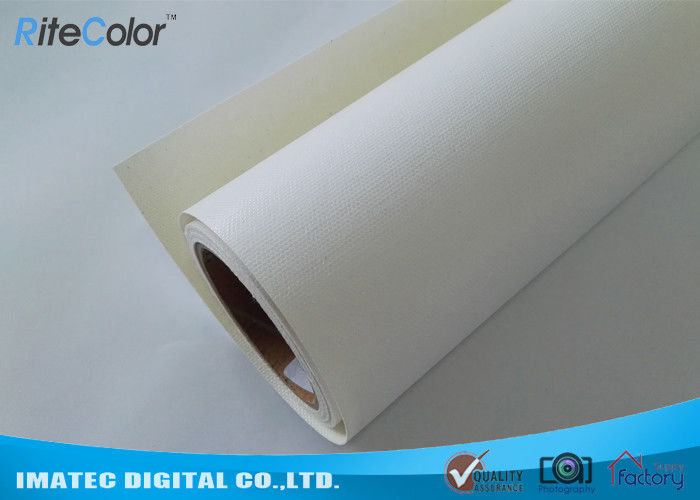Glossy Inkjet Cotton Canvas Roll , 400gsm White Silky Digital Printing Canvas