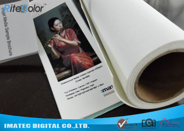 Large Format 420gsm Inkjet Cotton Canvas Matte for Canon Plotters