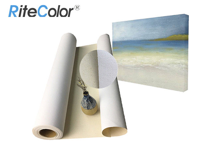 Water Based Inkjet Printable Canvas / 100% Cotton Art Canvas Rolls Matte Surface