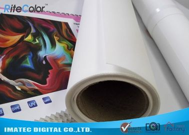 চীন Art Matte Polyester Fabric Roll Indoor Inkjet Large Format Canvas 30m Length কারখানা