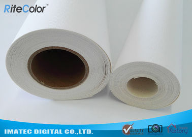 চীন 410Gsm Inkjet Cotton Canvas Roll , 20Mil Inkjet Printable Canvas Good Ink Absorbable পরিবেশক